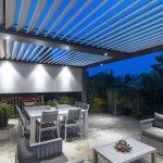 pergolas en aluminium lame orientable pour terrasse